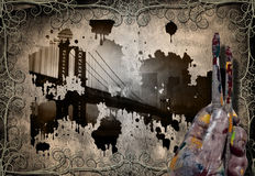 Abstract artist and bridge Royalty Free Stock Photos