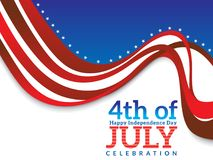 Abstract artistic american independence day background. Vector illustration Royalty Free Illustration