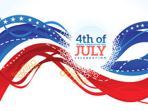Abstract artistic american independence day wave. Vector illustration Royalty Free Stock Photo