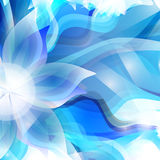 Abstract artistic Background with blue floral. Vector illustrator of Abstract artistic Background with blue floral element Royalty Free Stock Image