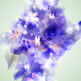 Abstract artistic Background with blue floral. Vector illustrator of Abstract artistic Background with blue floral element Stock Photography