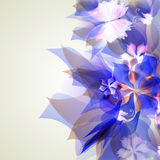 Abstract artistic Background with blue floral. Vector illustrator of Abstract artistic Background with blue floral element Stock Images