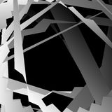 Abstract artistic background with distorted overlapping shapes. Grayscale, monochrome graphical backdrop in square format - Royalty free vector illustration royalty free illustration