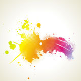 Abstract artistic Background with floral element a. Nd colorful blots. ink splattered background Stock Photography