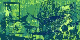 Abstract artistic background. Green artistic neo-grunge style abstract background, made with hand drawn textures and brushes vector illustration