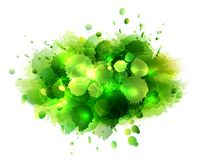 Abstract artistic background of green paint. Splashes. Vector illustration Stock Photography