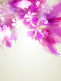 Abstract artistic Background with pink floral element Royalty Free Stock Images