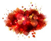 Abstract artistic background of red paint splashes. Vector illustration Royalty Free Stock Photography