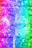 Abstract artistic background with splashes of paint. Abstract, hand painted colorful wooden background royalty free stock images