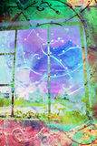 Abstract, artistic background with vintage gate Royalty Free Stock Photos