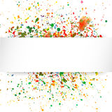 Abstract artistic Background with watercolor splash. Vector multicolored background royalty free illustration