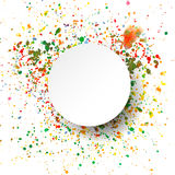 Abstract artistic Background with watercolor splash. Vector multicolored background vector illustration