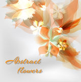 Abstract artistic Background with yellow floral. Vector illustrator of Abstract artistic Background with yellow floral element Stock Photos