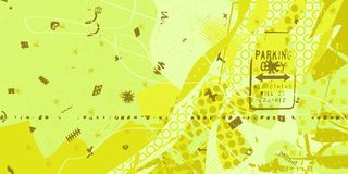 Abstract artistic background. Yellow and green artistic neo-grunge style abstract background, made with hand drawn textures and brushes Stock Images