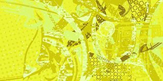 Abstract artistic background. Yellow and green artistic neo-grunge style abstract background, made with hand drawn textures and brushes vector illustration