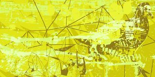 Abstract artistic background. Yellow and green artistic neo-grunge style abstract background, made with hand drawn textures and brushes Stock Photos