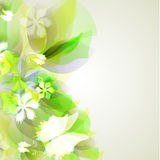 Abstract artistic Background with yellow and green Stock Image