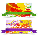 Abstract artistic Banners Stock Image