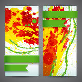 Abstract artistic Banners Royalty Free Stock Photography