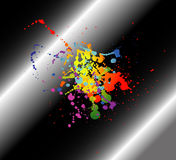 Abstract artistic black Background of colorful Stock Image