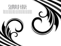 Abstract artistic black florel background Stock Images
