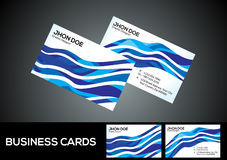 Abstract artistic blue business card Stock Images