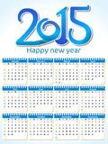 Abstract artistic blue calender. Vector illustration Royalty Free Stock Photography