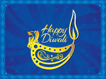 Abstract artistic blue diwali background. Vector illustration royalty free illustration