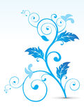 Abstract artistic blue floral Stock Photos
