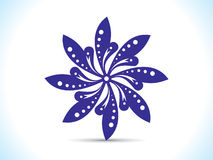 Abstract artistic blue floral. Vector illustration Royalty Free Stock Images
