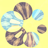 Abstract Artistic Blue Flower Spinner Royalty Free Stock Photography