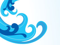 Abstract artistic blue wave background. Vector illustration Stock Photos