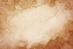 Abstract artistic brown watercolor background Stock Images