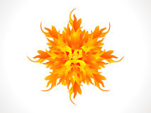Abstract artistic burning star Stock Photos