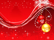 Abstract artistic christmas background. Vector illustration Stock Images