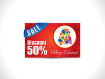 Abstract artistic christmas discount card. Vector illustration Royalty Free Stock Image