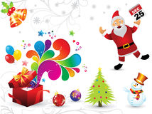 Abstract artistic christmas elements background Stock Image