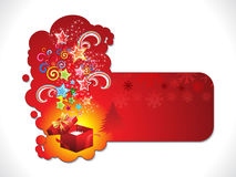 Abstract artistic christmas sticker. Vector illustration Royalty Free Stock Image