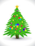 Abstract artistic christmas tree background. Abstract artistic christmas  tree vector illustration Royalty Free Stock Photos