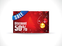 Abstract artistic chrtistmas discount card Royalty Free Stock Image
