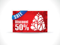 Abstract artistic chrtistmas discount card Royalty Free Stock Images