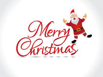 Abstract artistic chrtistmas text with santa Stock Image