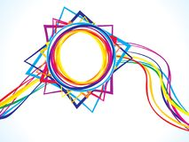 Abstract artistic circle wave explode. Vector illustration Royalty Free Stock Photography
