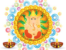 Abstract artistic colorful artistic ganesh chaturthi. Vector illustration Stock Photography