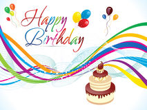 Abstract artistic colorful birthday background Royalty Free Stock Photo