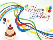 Abstract artistic colorful birthday background. Vector illustration Royalty Free Stock Photo