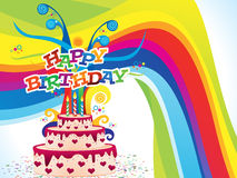 Abstract artistic colorful birthday background. Vector illustration Royalty Free Stock Image