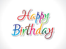 Abstract artistic colorful birthday sticker Royalty Free Stock Images