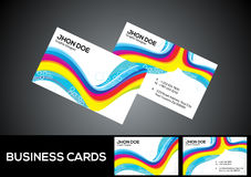 Abstract artistic colorful business card. Vector illustratioin Royalty Free Stock Image