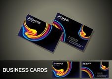 Abstract artistic colorful business card. Vector illustration royalty free illustration